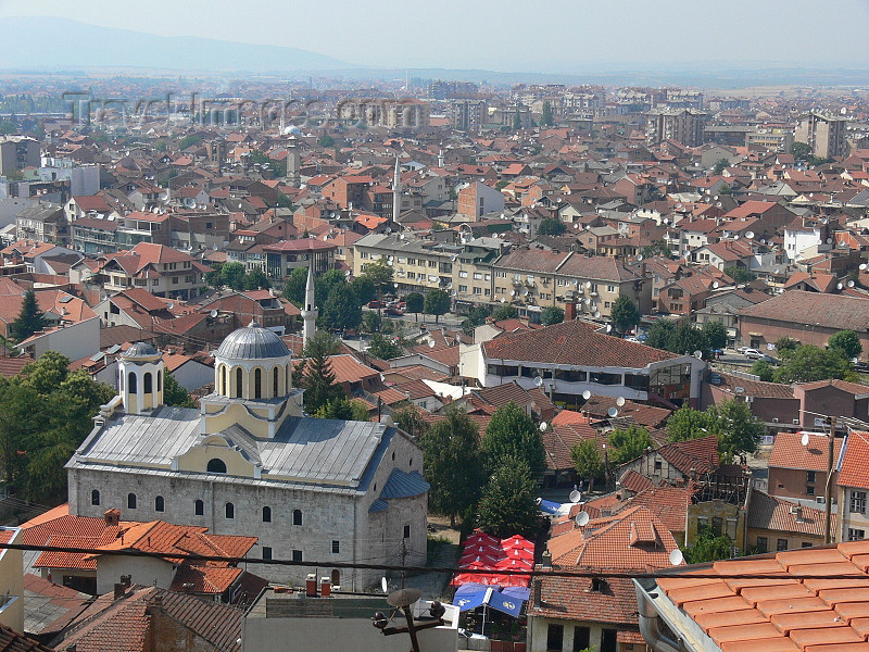 kosovo75: Kosovo - Prizren / Prizreni: Skyline and St George church - photo by J.Kaman - (c) Travel-Images.com - Stock Photography agency - Image Bank