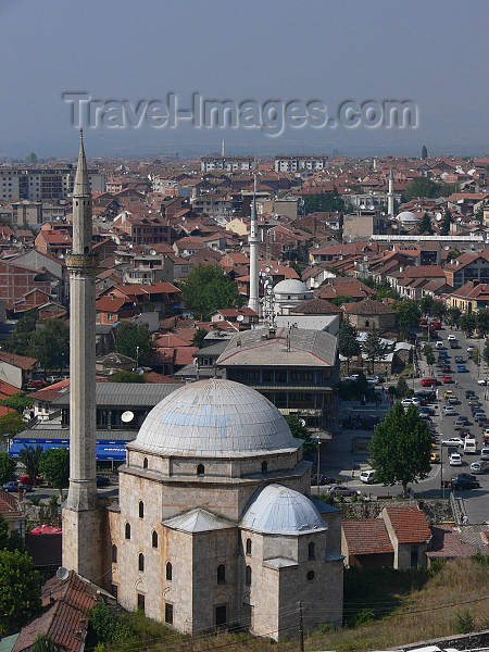 kosovo76: Kosovo - Prizren / Prizreni: Sinan Pasha mosque and the main avenue - photo by J.Kaman - (c) Travel-Images.com - Stock Photography agency - Image Bank