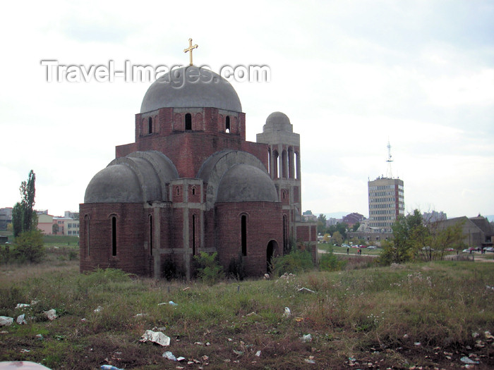 kosovo9: Kosovo - Pristina: Church of Christ the Savior - Serbian Orthodox Diocese of Raska and Prizren - photo by A.Kilroy - (c) Travel-Images.com - Stock Photography agency - Image Bank