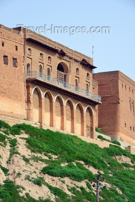 kurdistan10: Erbil / Hewler, Kurdistan, Iraq: Erbil Citadel - old brick building with arches and balcony - Qelay Hewlêr - UNESCO world heritage site - photo by M.Torres - (c) Travel-Images.com - Stock Photography agency - Image Bank