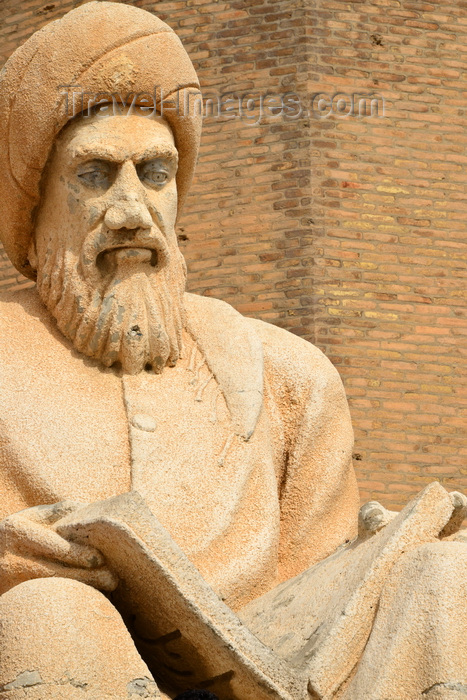 kurdistan21: Erbil / Hewler / Arbil / Irbil, Kurdistan, Iraq: close-up of the statue of the historian Ibn Al-Mustawfi aka Mubarak Ben Ahmed Sharaf-Aldin at the entrance to Erbil Citadel - minister of Erbil in the era of Sultan Muzafardin - Qelay Hewlêr - UNESCO world heritage site - photo by M.Torres - (c) Travel-Images.com - Stock Photography agency - Image Bank