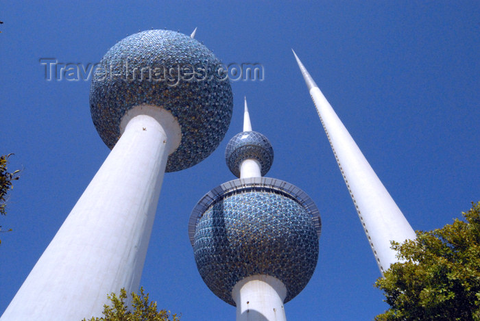 kuwait73: Kuwait city: Kuwait towers - two towers and needle - designed by Sune Lindström and Malene Björn and were built by a Serbian company, Union-Inzenjering - photo by M.Torres - (c) Travel-Images.com - Stock Photography agency - the Global Image Bank