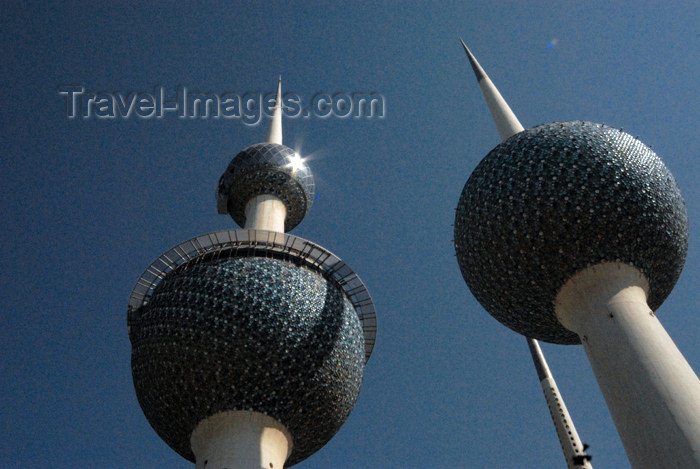 kuwait75: Kuwait city: Kuwait towers - spheres and needle - photo by M.Torres - (c) Travel-Images.com - Stock Photography agency - the Global Image Bank