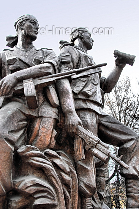 kyrgyzstan43: Bishkek, Kyrgyzstan: Afghanistan war memorial - Kyrgyz soldiers on the battlefield - photo by M.Torres - (c) Travel-Images.com - Stock Photography agency - Image Bank