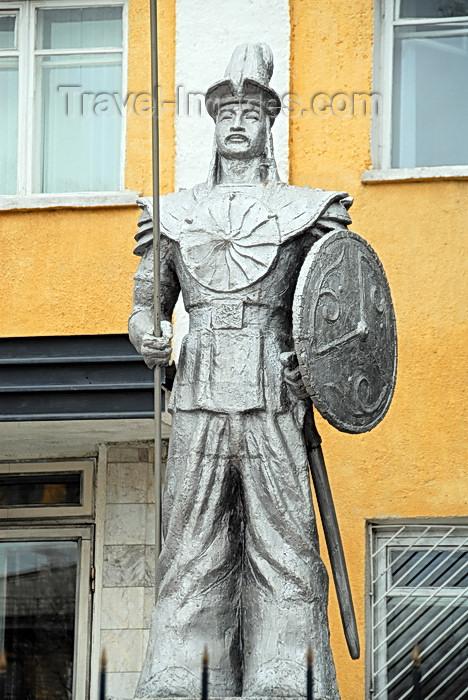 kyrgyzstan45: Bishkek, Kyrgyzstan: Kyrgyz warrior - Kievskaya avenue - statue in front of the headquarters of the National Guard - Uluttuk Gvardya - photo by M.Torres - (c) Travel-Images.com - Stock Photography agency - Image Bank