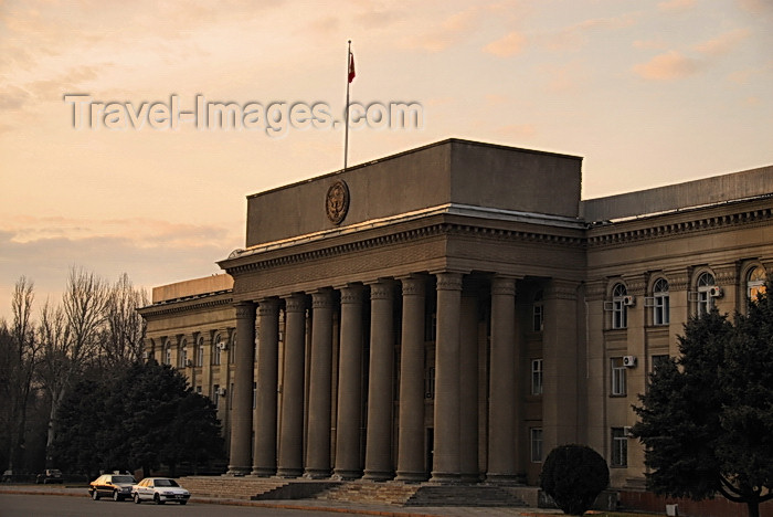 kyrgyzstan76: Bishkek, Kyrgyzstan: Jogorku Kenesh, the Kyrgyz parliament - architects G.Nazaryan and R.Semerjiyev - T.Abdumomunov street - photo by M.Torres - (c) Travel-Images.com - Stock Photography agency - Image Bank