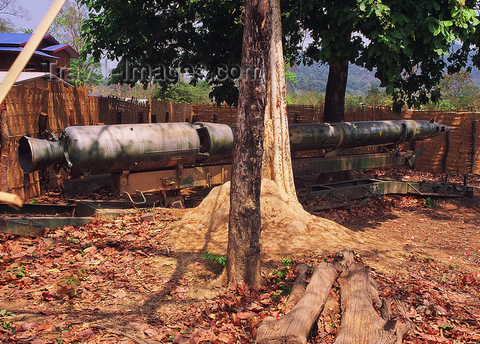 laos105: Laos: rusting Soviet AA missile of Vietnam war period - photo by E.Petitalot - (c) Travel-Images.com - Stock Photography agency - Image Bank