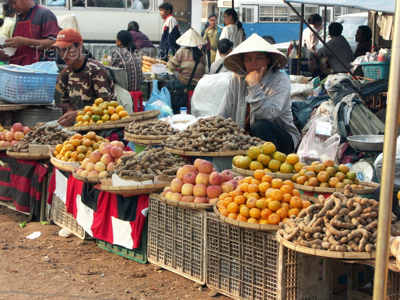 laos16: Laos - Vientiane: at the market - fruit section (photo by P.Artus) - (c) Travel-Images.com - Stock Photography agency - Image Bank