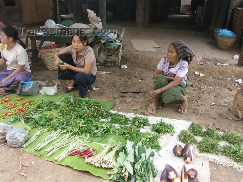 laos22: Laos - Vang Veing: farmers' market - photo by P.Artus - (c) Travel-Images.com - Stock Photography agency - Image Bank