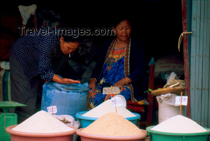 laos59: Laos - Luang Prabang - Rice shop (photo by K.Strobel) - (c) Travel-Images.com - Stock Photography agency - Image Bank