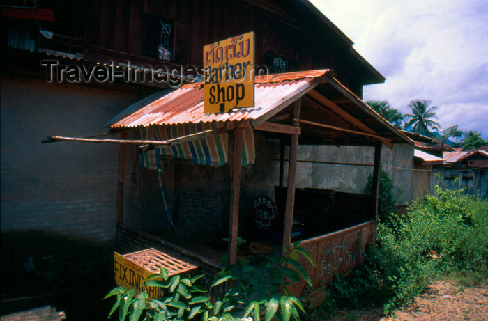 laos64: Laos - Vang Vieng - barber shop - photo by K.Strobel - (c) Travel-Images.com - Stock Photography agency - Image Bank
