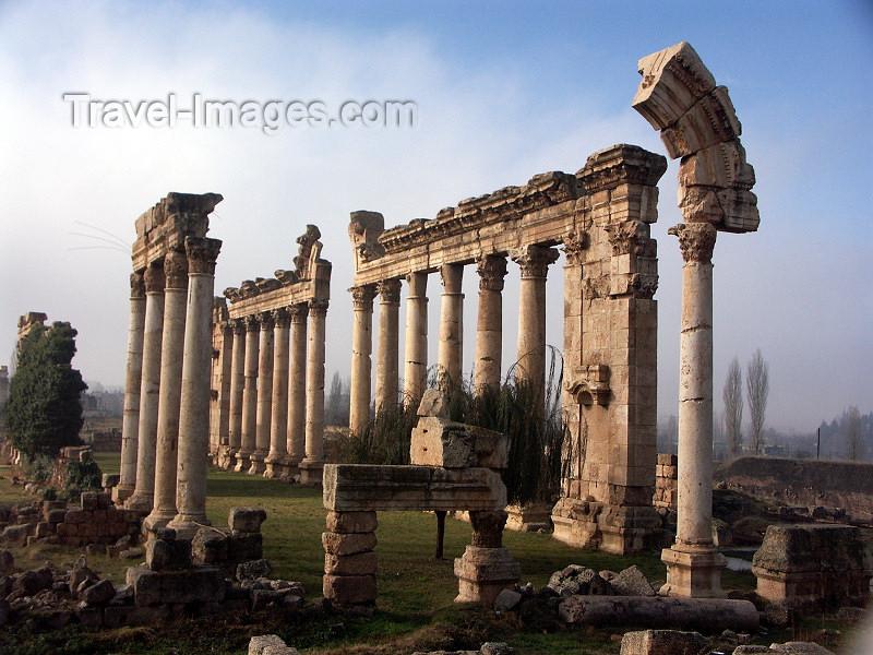 lebanon46: Lebanon / Liban - Baalbek / Baalbak / Heliopolis: temple ruins (photo by P.Artus) - (c) Travel-Images.com - Stock Photography agency - Image Bank