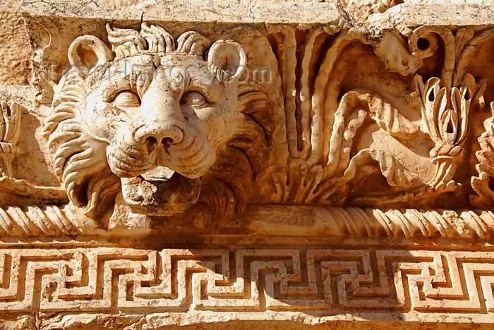lebanon49: Lebanon, Baalbek: Lions head frieze from the Temple of Jupiter - photo by J.Pemberton - (c) Travel-Images.com - Stock Photography agency - Image Bank