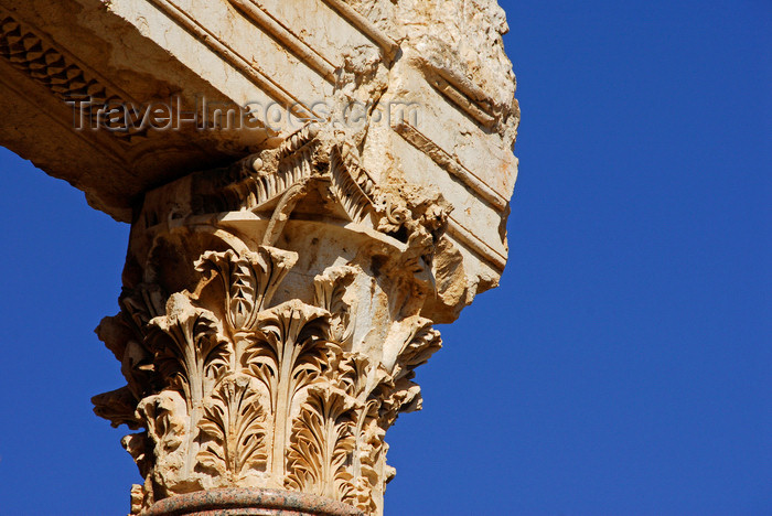 lebanon50: Lebanon, Baalbek: Corinthian capital - column detail from the ruins - acanthus carving - photo by J.Pemberton - (c) Travel-Images.com - Stock Photography agency - Image Bank