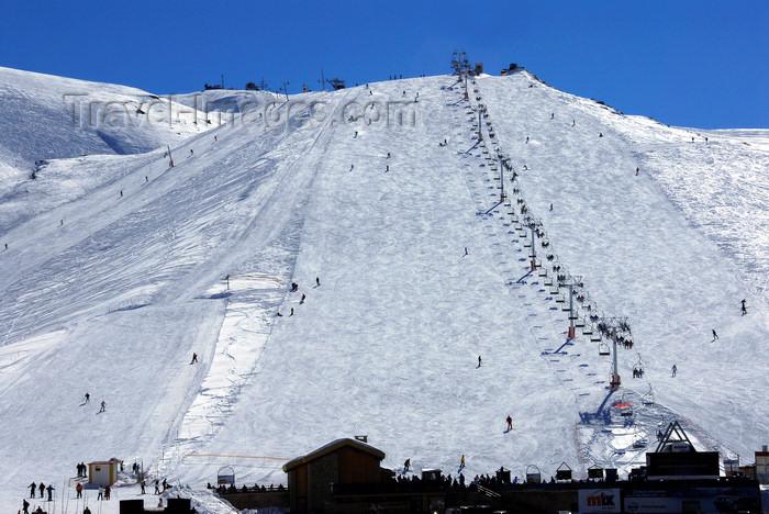 lebanon52: Lebanon, Faraya Mzaar: view of chairlift run and base station - ski scene - snow - winter - photo by J.Pemberton - (c) Travel-Images.com - Stock Photography agency - Image Bank