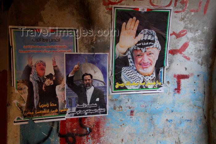 lebanon53: Lebanon, Sidon: political posters of Sadam Hussein and Yasser Arafat - photo by J.Pemberton - (c) Travel-Images.com - Stock Photography agency - Image Bank