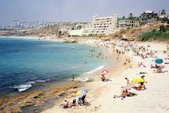 lebanon6: Lebanon / Liban - Jubayl/Byblos: Mediterranean beach (photo by M.Torres) - (c) Travel-Images.com - Stock Photography agency - Image Bank