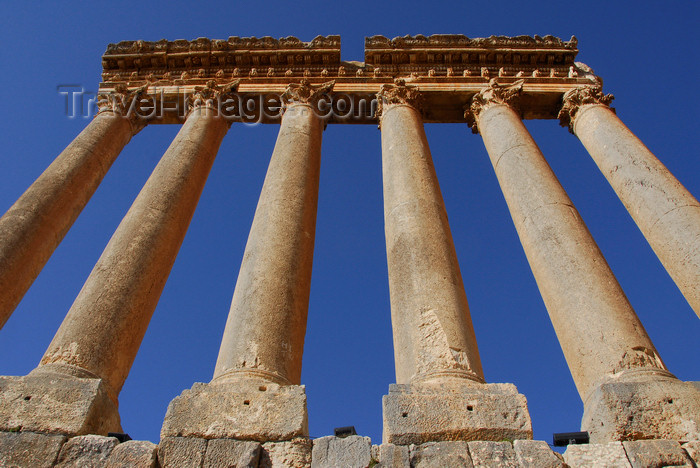 lebanon61: Lebanon, Baalbek: Columns from Temple of Jupiter - sanctuary of the Heliopolitan Jupiter-Baal - UNESCO World Heritage Site - photo by J.Pemberton - (c) Travel-Images.com - Stock Photography agency - Image Bank