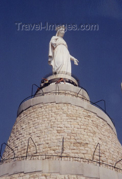 lebanon9: Lebanon / Liban - Harissa: Our Lady of Lebanon shrine - Virgin of Lebanon - Notre-Dame du Liban (photo by M.Torres) - (c) Travel-Images.com - Stock Photography agency - Image Bank