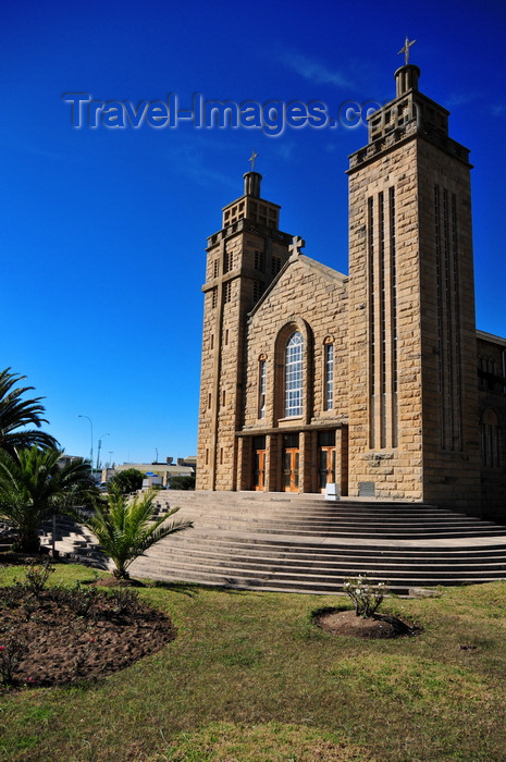 lesotho21: Maseru, Lesotho: Our Lady of Victory Cathedral seen from the garden - photo by M.Torres - (c) Travel-Images.com - Stock Photography agency - Image Bank