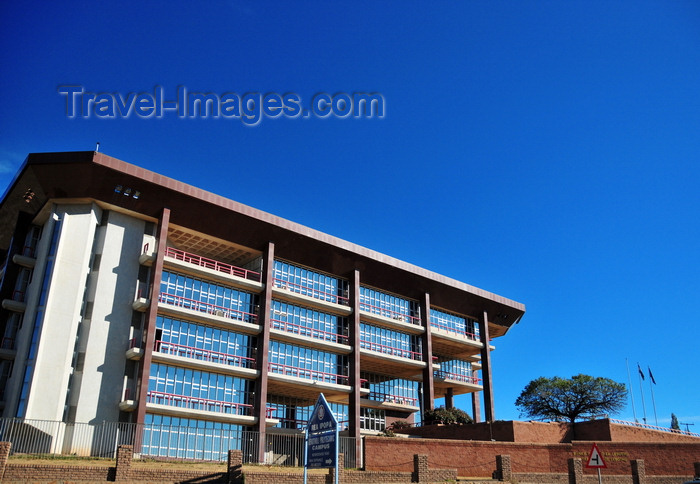 lesotho32: Maseru, Lesotho: Central Bank of Lesotho building - Corner Airport and Moshoeshoe Roads - photo by M.Torres - (c) Travel-Images.com - Stock Photography agency - Image Bank