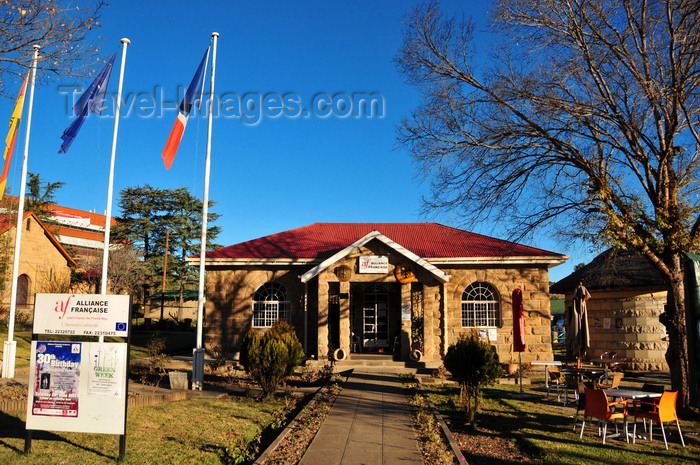 lesotho38: Maseru, Lesotho: Alliance Française building, which houses also a café and the consulates of France and Germany - Kingsway - photo by M.Torres - (c) Travel-Images.com - Stock Photography agency - Image Bank