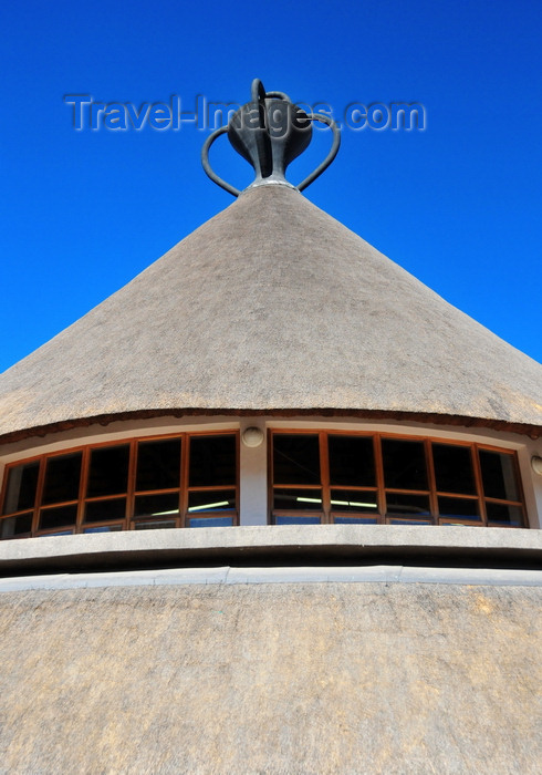 lesotho6: Maseru, Lesotho: Basotho Hat building - thatched roof - photo by M.Torres - (c) Travel-Images.com - Stock Photography agency - Image Bank