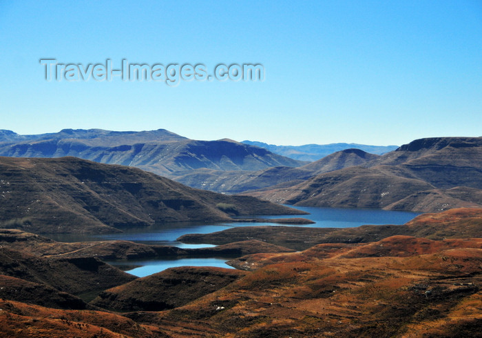 lesotho77: Mohale Dam, Lesotho: reservoir seen from the mountains - Lesotho Highlands Water Project (LHWP) - photo by M.Torres - (c) Travel-Images.com - Stock Photography agency - Image Bank