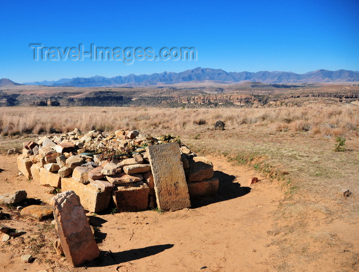 lesotho83: Thaba Bosiu, Lesotho: tomb of Moshoeshoe I, 1786 - 1870, founder of the Basotho nation - the plateu is the resting place for the Kings and Chiefs of Lesotho - photo by M.Torres - (c) Travel-Images.com - Stock Photography agency - Image Bank