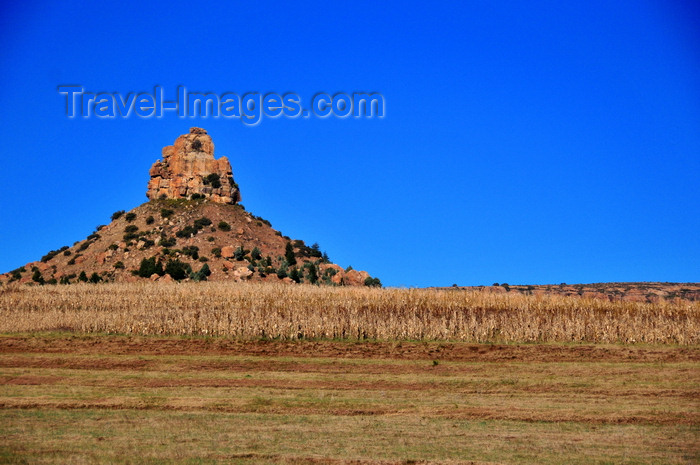 lesotho90: Thaba Bosiu, Lesotho: Qiloane pinnacle - the inspiration for the top-knot on the traditional Basotho hat, the Mokorotlo - photo by M.Torres - (c) Travel-Images.com - Stock Photography agency - Image Bank