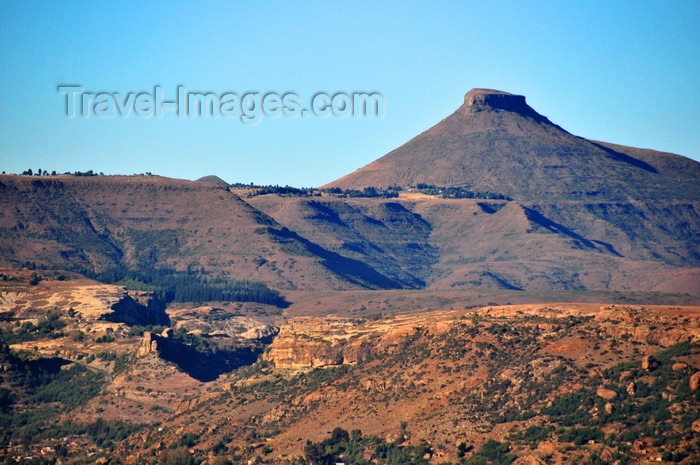 lesotho97: Roma area, Lesotho: conical hill  - photo by M.Torres - (c) Travel-Images.com - Stock Photography agency - Image Bank
