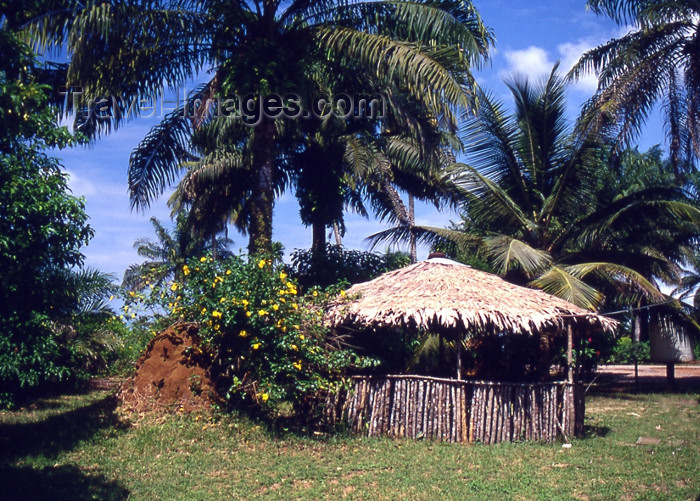 liberia40: Grand Bassa County, Liberia, West Africa: village hut - photo by M.Sturges - (c) Travel-Images.com - Stock Photography agency - Image Bank