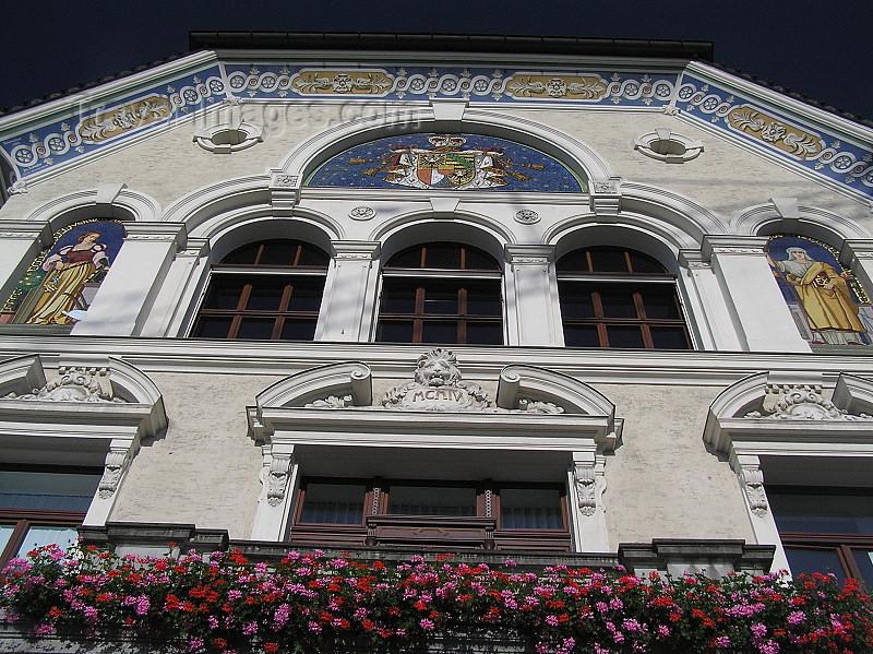 liech56: Liechtenstein - Vaduz: Government house - detail - Regierungsgebäude - photo by J.Kaman - (c) Travel-Images.com - Stock Photography agency - Image Bank