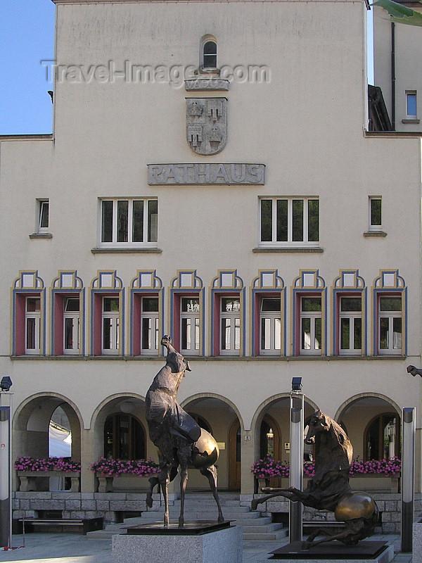 liech61: Liechtenstein - Vaduz: Rathaus / Townhall - photo by J.Kaman - (c) Travel-Images.com - Stock Photography agency - Image Bank