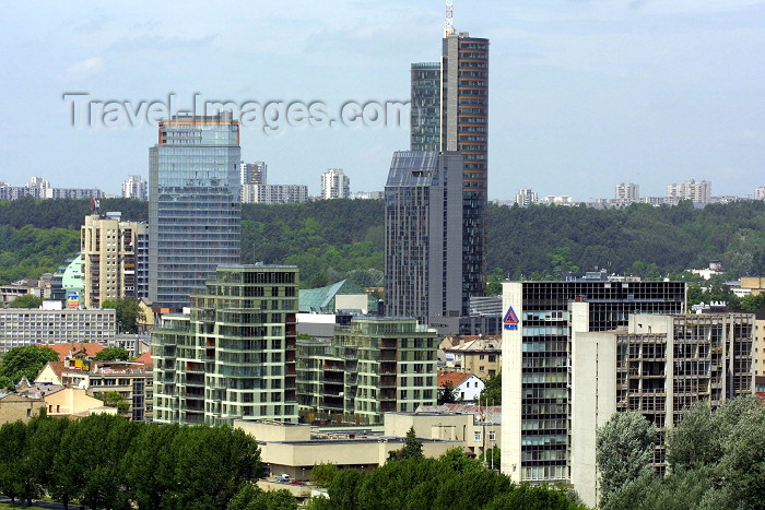 lithuan10: Lithuania - Vilnius: skyscrapers - towers of the business district - photo by A.Dnieprowsky - (c) Travel-Images.com - Stock Photography agency - Image Bank