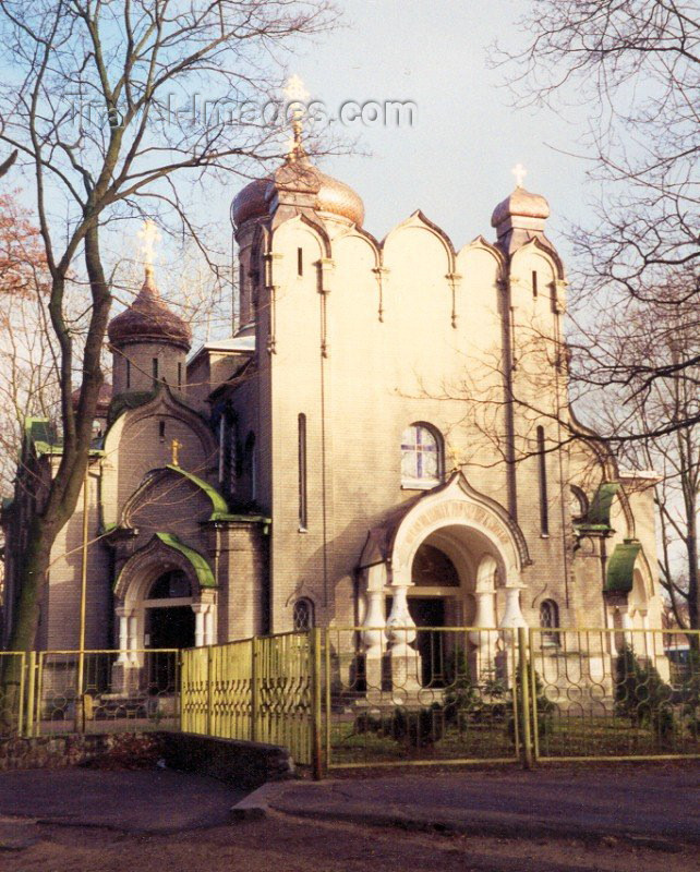 lithuan20: LiLithuania - Kaunas: church reflecting the sun / baznycia - photo by M.Torres - (c) Travel-Images.com - Stock Photography agency - Image Bank
