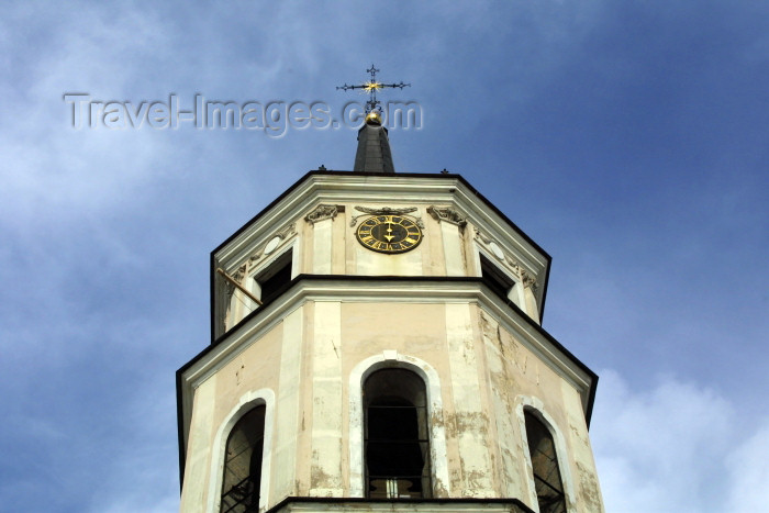 lithuan26: Lithuania - Vilnius: Cathedral of the Three Saints - Belfry detail - Vilnius Historic Centre - Unesco world heritage site - photo by A.Dnieprowsky - (c) Travel-Images.com - Stock Photography agency - Image Bank