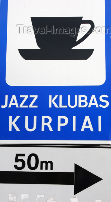 lithuania128: Lithuania - Klaipeda: Jazz club Kurpiai - sign - photo by A.Dnieprowsky - (c) Travel-Images.com - Stock Photography agency - Image Bank