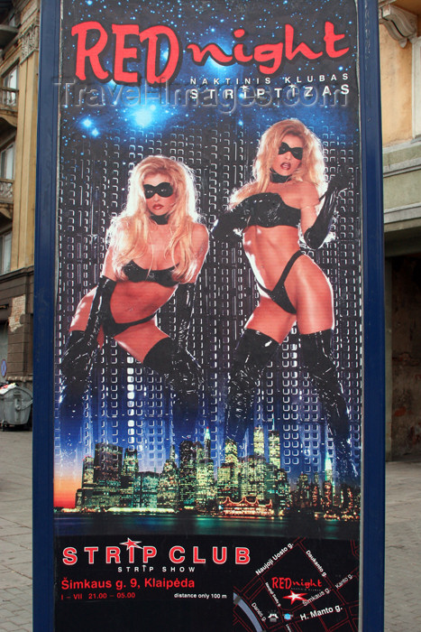 lithuania130: Lithuania - Klaipeda: night club ad in a sailors' city - photo by A.Dnieprowsky - (c) Travel-Images.com - Stock Photography agency - Image Bank