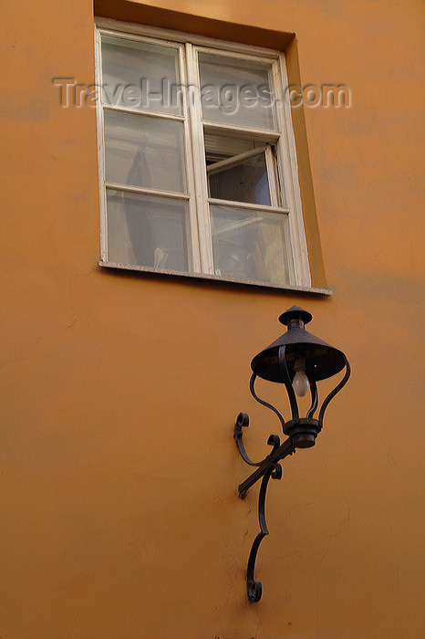 lithuania171: Lithuania - Vilnius: lantern in the old town - photo by Sandia - (c) Travel-Images.com - Stock Photography agency - Image Bank