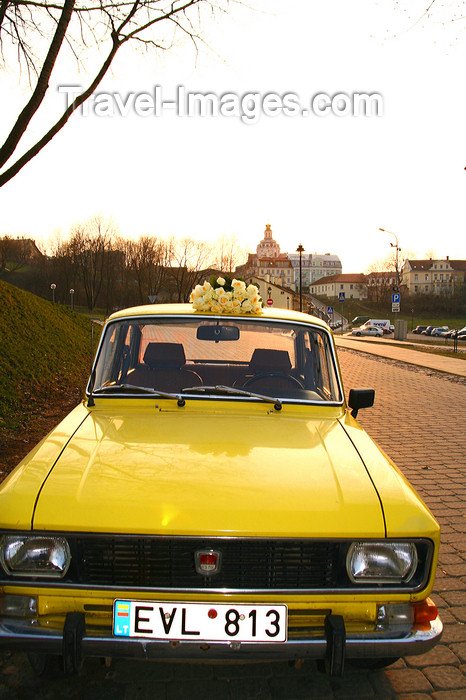 lithuania190: Lithuania - Vilnius: old Moskvich car in the old town - photo by Sandia - (c) Travel-Images.com - Stock Photography agency - Image Bank
