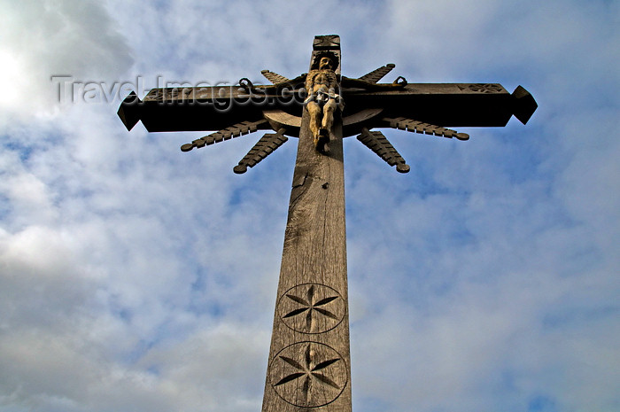 lithuania198: Siauliai, Lithuania: Hill of Crosses - Christ and the sky - photo by J.Pemberton - (c) Travel-Images.com - Stock Photography agency - Image Bank