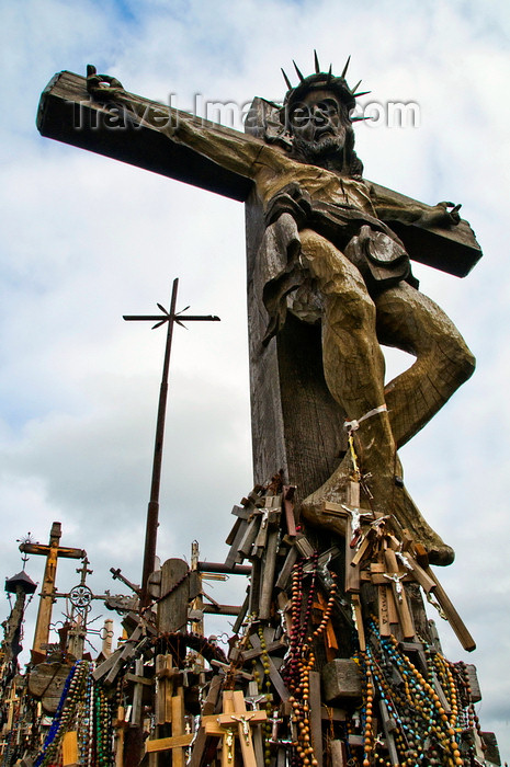 lithuania200: Siauliai, Lithuania: Hill of Crosses - Crucifixion - photo by J.Pemberton - (c) Travel-Images.com - Stock Photography agency - Image Bank