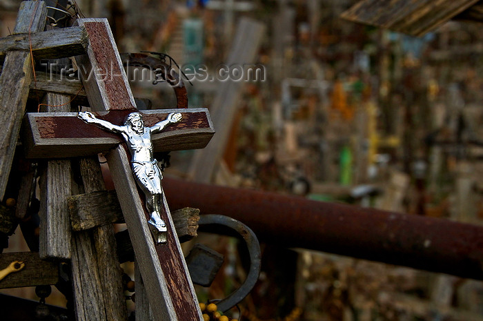 lithuania203: Siauliai, Lithuania: Hill of Crosses - declared by Pope John Paul II a place for hope, peace, love and sacrifice - photo by J.Pemberton - (c) Travel-Images.com - Stock Photography agency - Image Bank