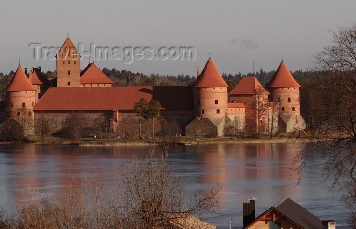 lithuania215: Trakai, Lithuania: Trakai Island Castle, the 'Little Marienburg' - photo by A.Dnieprowsky - (c) Travel-Images.com - Stock Photography agency - Image Bank