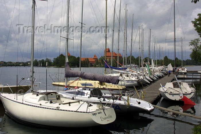 lithuania35: Lithuania - Trakai: marina - yachts on the lake - photo by A.Dnieprowsky - (c) Travel-Images.com - Stock Photography agency - Image Bank