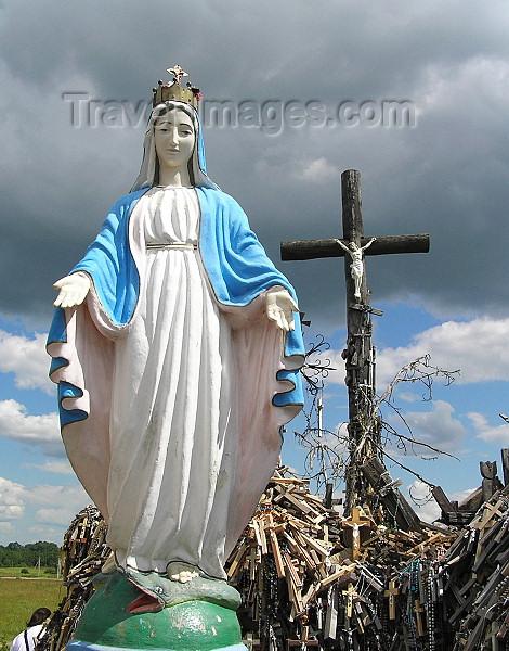 lithuania42: Lithuania / Litva - Siauliai: Hill of crosses - Kryziu Kalnas - the Virgin Mary - photo by J.Kaman - (c) Travel-Images.com - Stock Photography agency - Image Bank