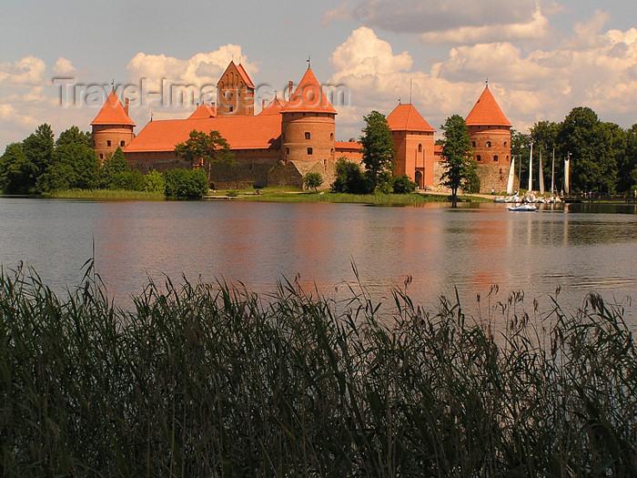 lithuania44: Trakai, Lithuania / Litva / Litauen: Trakai Island Castle - from the banks of lake Galve - photo by J.Kaman - (c) Travel-Images.com - Stock Photography agency - Image Bank