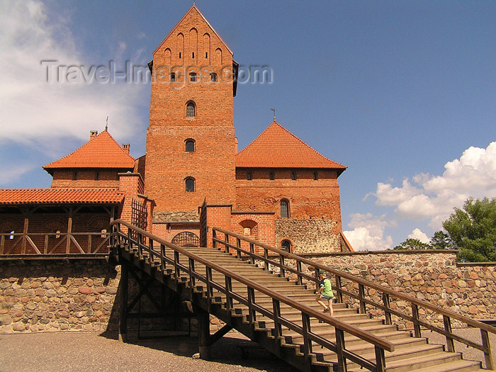 lithuania52: Trakai - Lithuania / Litva / Litauen: Trakai Island Castle - stairs to the the Ducal Palace - photo by J.Kaman - (c) Travel-Images.com - Stock Photography agency - Image Bank