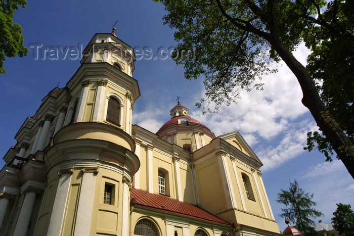 lithuania60: Lithuania - Vilnius: Baroque - Sts. Peter & Paul's Roman Catholic Church - façade / Svento Petro ir Povilo baznycia - photo by A.Dnieprowsky - (c) Travel-Images.com - Stock Photography agency - Image Bank